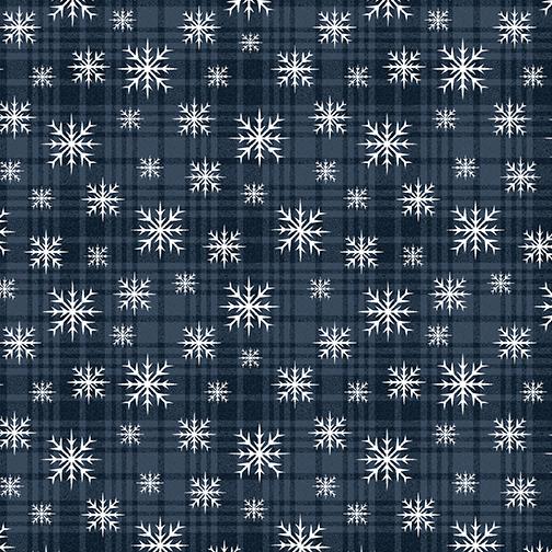 Wooly Snowflake Plaid    Midnight
