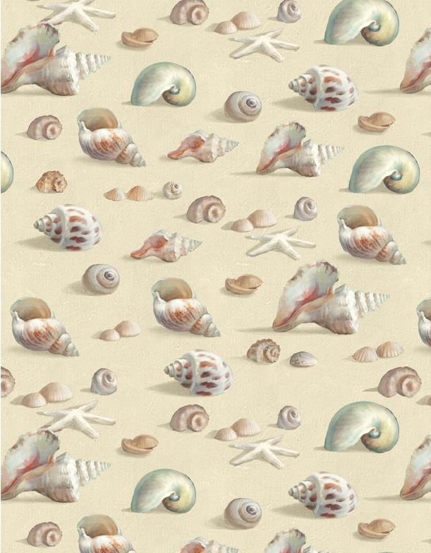 Coastal Bliss Seashells A/O  Lt Taupe