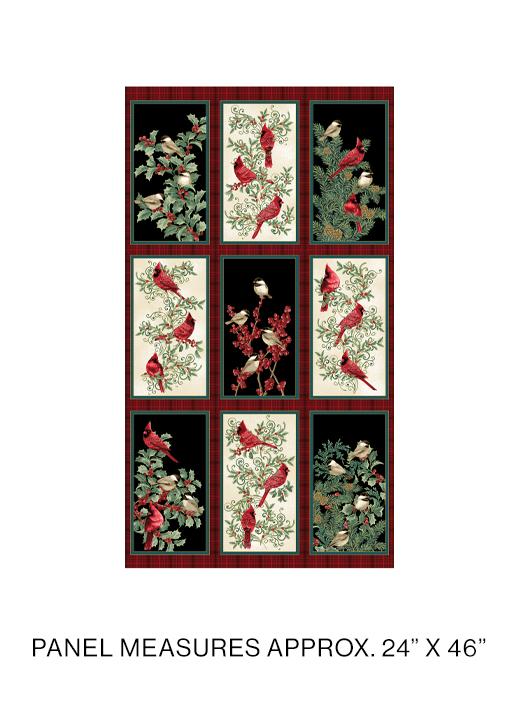 Winter Elegance Bird Panel    Multi