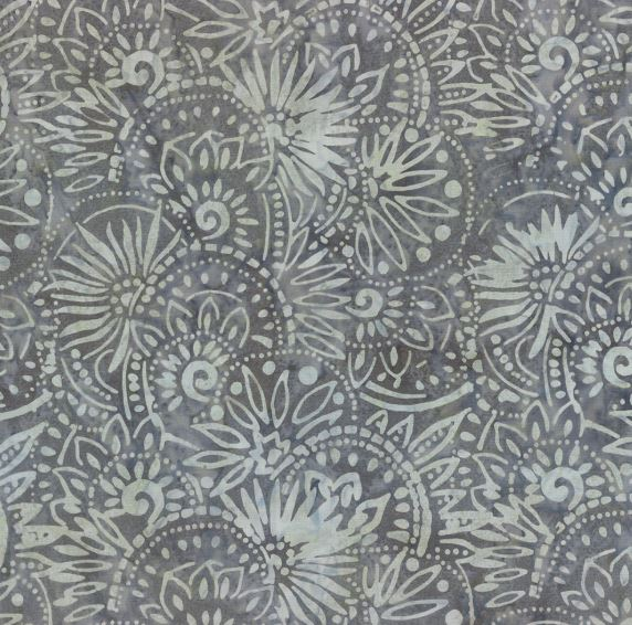 Floral Medallions - Gray
