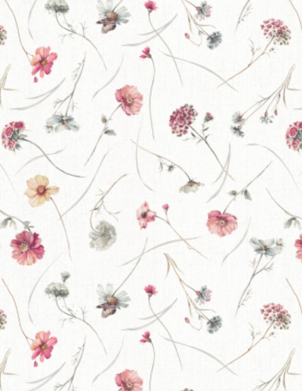 A Country Weekend     Wildflower Toss   Ivory