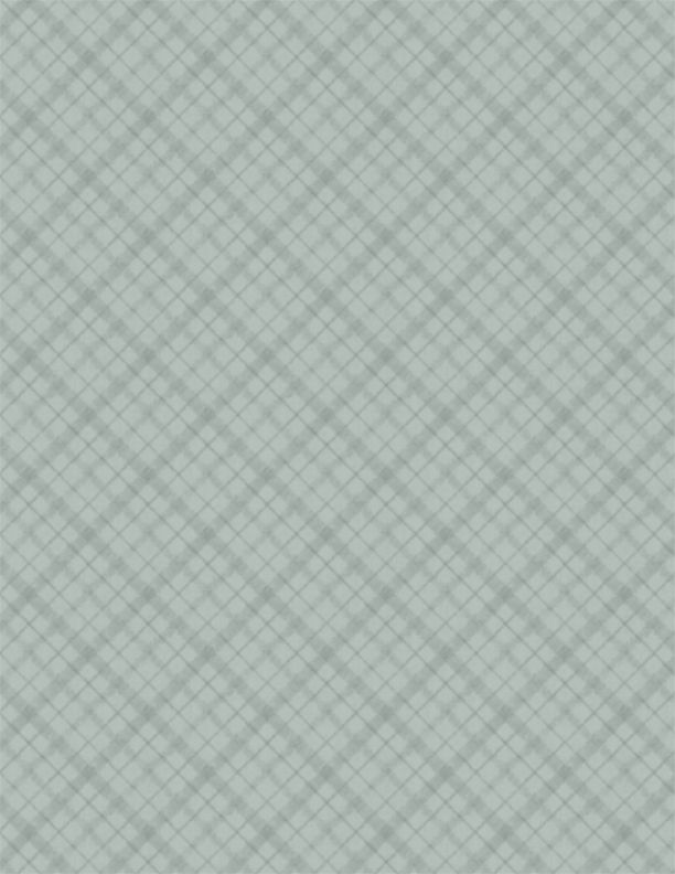 A Country Weekend     Diagonal Plaid     Gray-Green
