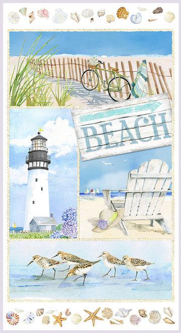 "Coastal Paradise 24"" Panel Blue"