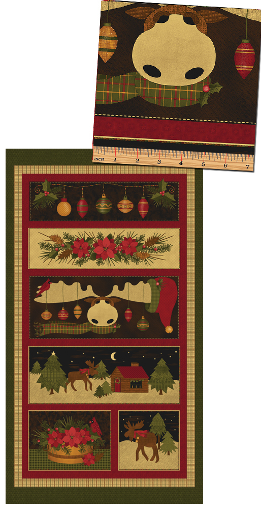 A Moose for Christmas Panel Multi