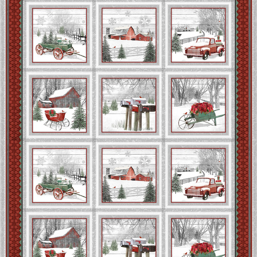 Holiday Homestead   Block Panel