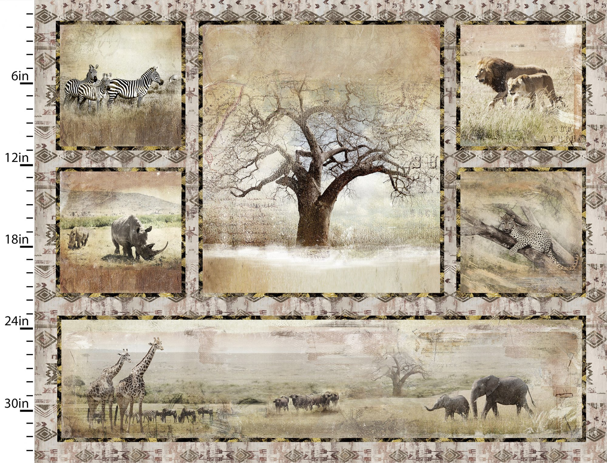 """Global Luxe    Tree Panel     Dr    36"""" x 42"""""""