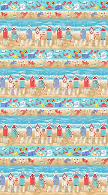 Surf's Up Border Stripe Blue