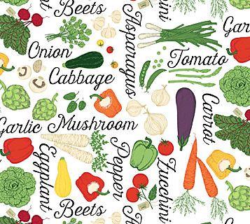 Farm To Table - Vegetables White