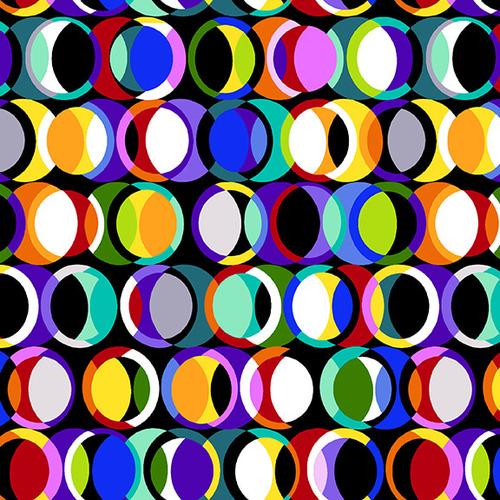 Geo Topia Multi Black Circle in a Circle