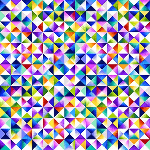 Geo Topia White Multi Triangle Collage