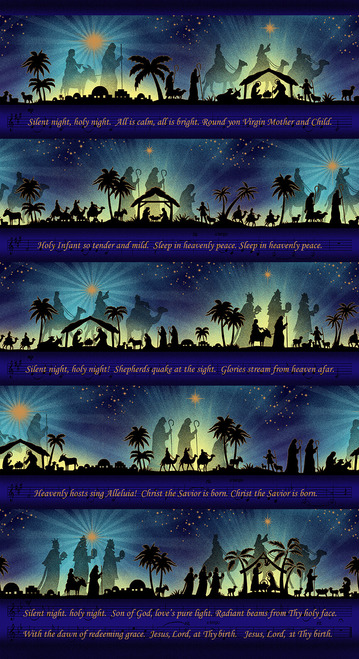 Silent Night Song Panel Metallic