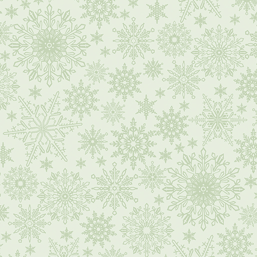 Tonal Snowflake Light Green