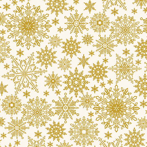 Metallic Snowflake Cream