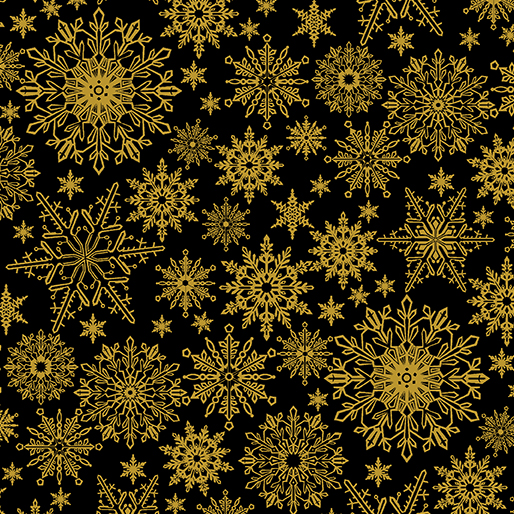 Metallic Snowflake Black