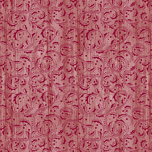 Washed Scroll Light Red