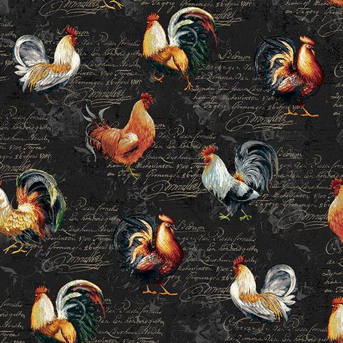 Farmers Market Rooster Toss - Black