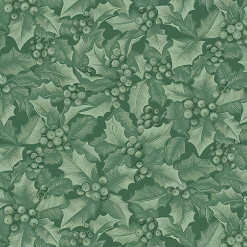 Winter Elegance    Holly & Berries    Medium Green