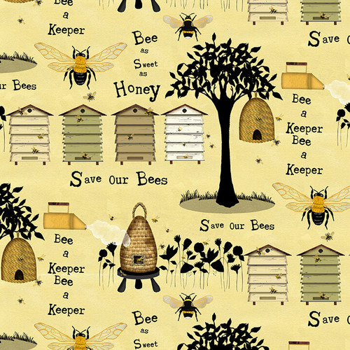 Various Bee Keeper Motifs - Yellow
