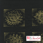 Etched Sunflower Black