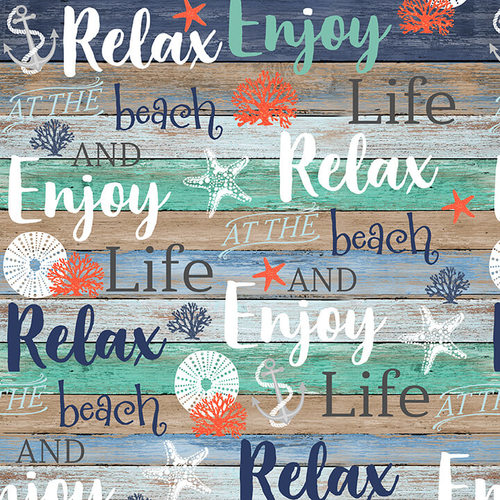 Coastal Dreams Beach Words on Shiplap
