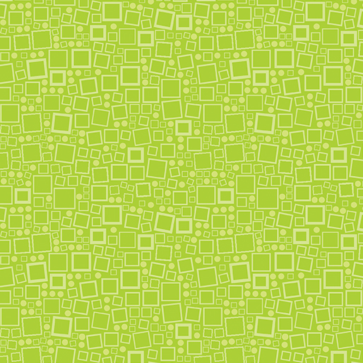 Anything Goes Squares and Dots Lime