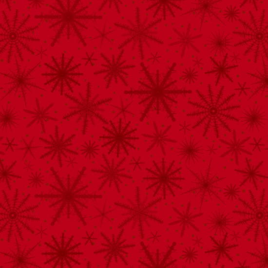 Holiday Wishes - Red on Red Snowflakes