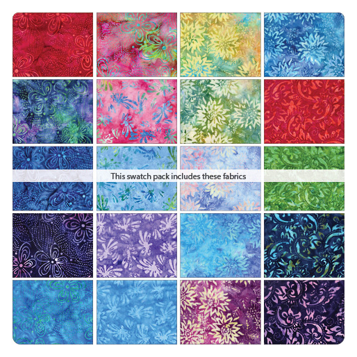 Bali Blooms 5 X 5 Pack  (42) Pieces