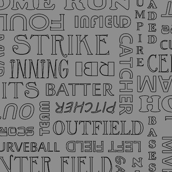 "Baseball Words ""Gray"""