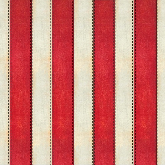 American Honor - red  and cream patriotic stripe