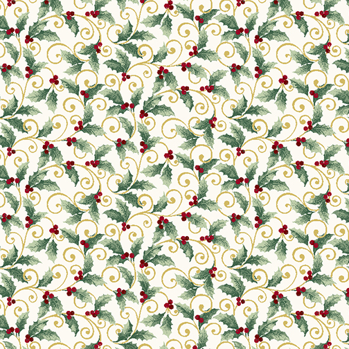Winter Elegance   Holly Scroll    Natural