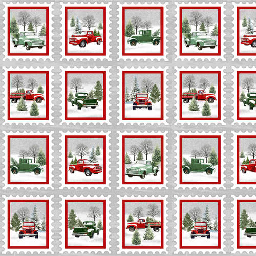 Tradition Continues - Vintage Trucks in Boxes Panel
