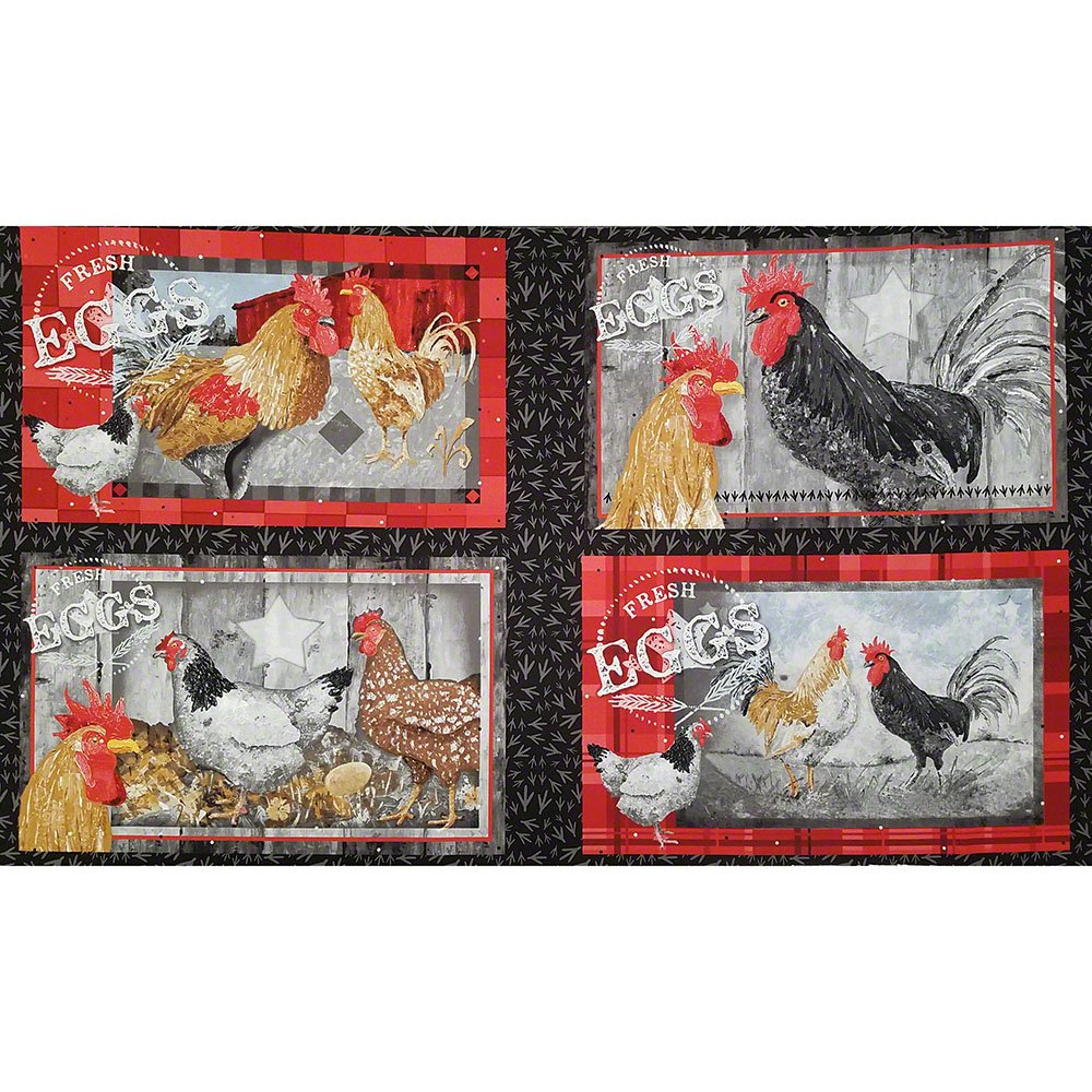 Chicken Scratch Placemat Panel Black