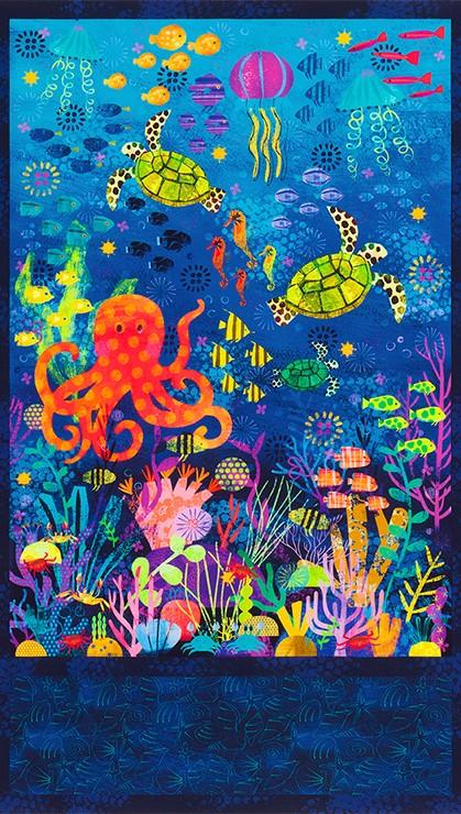 Octopus Garden Panel Ocean