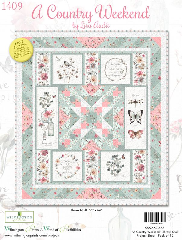 """A Country Weekend Quilt Kit       56"""" x 64"""""""
