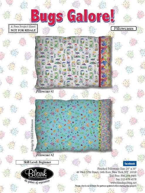 Bugs Galore Pillowcase - FREE PATTERN