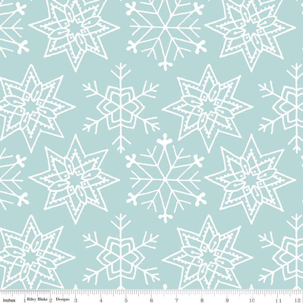 All About Christmas    Snowflakes   Blue