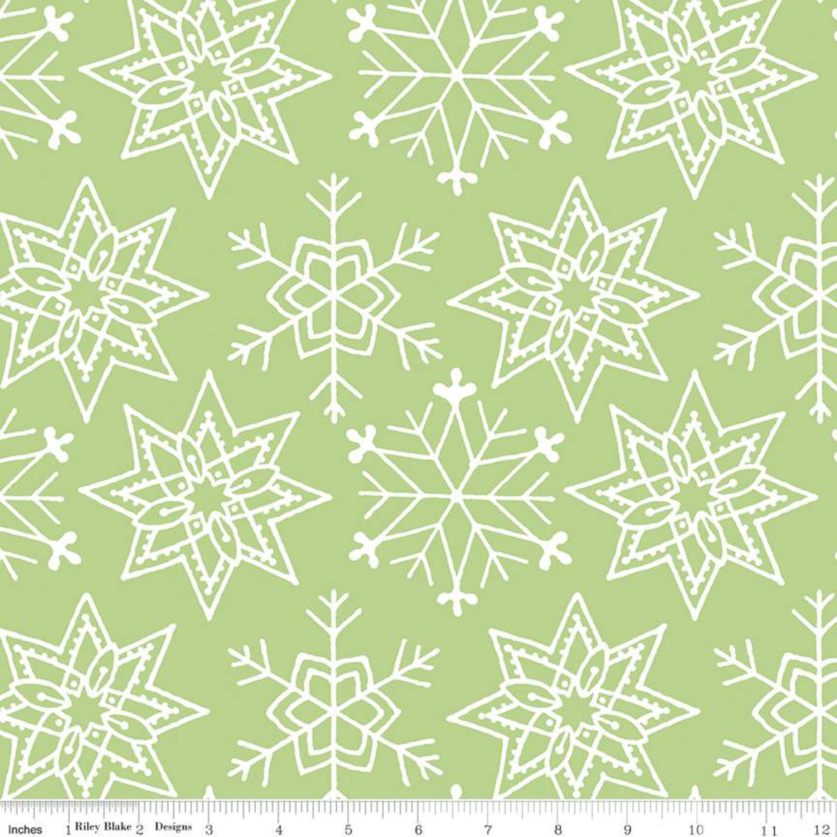 All About Christmas    Snowflakes   Green