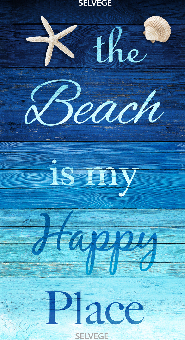 Beach Is My Happy Place Panel Turquoise