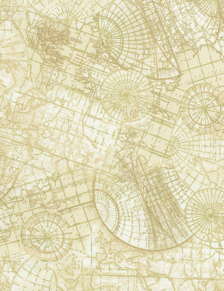 Library Cream Metallic Atlas