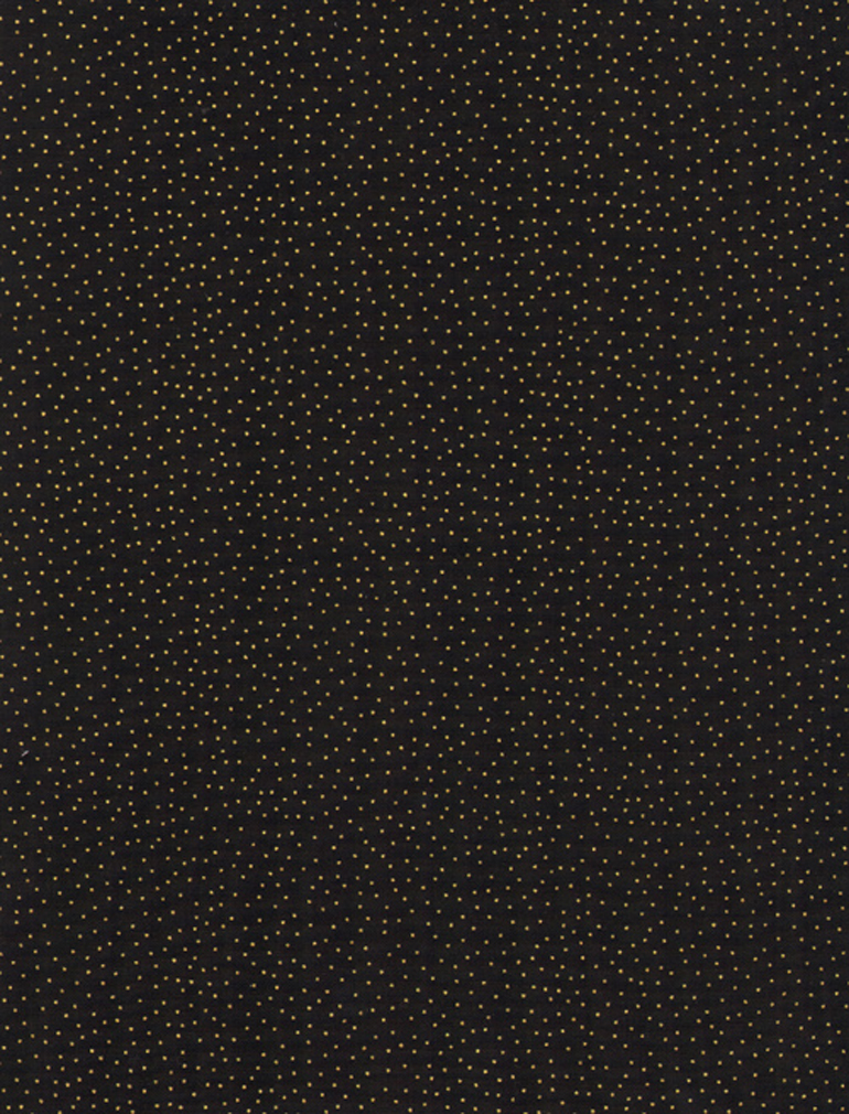 Metallic Pin Dots Black