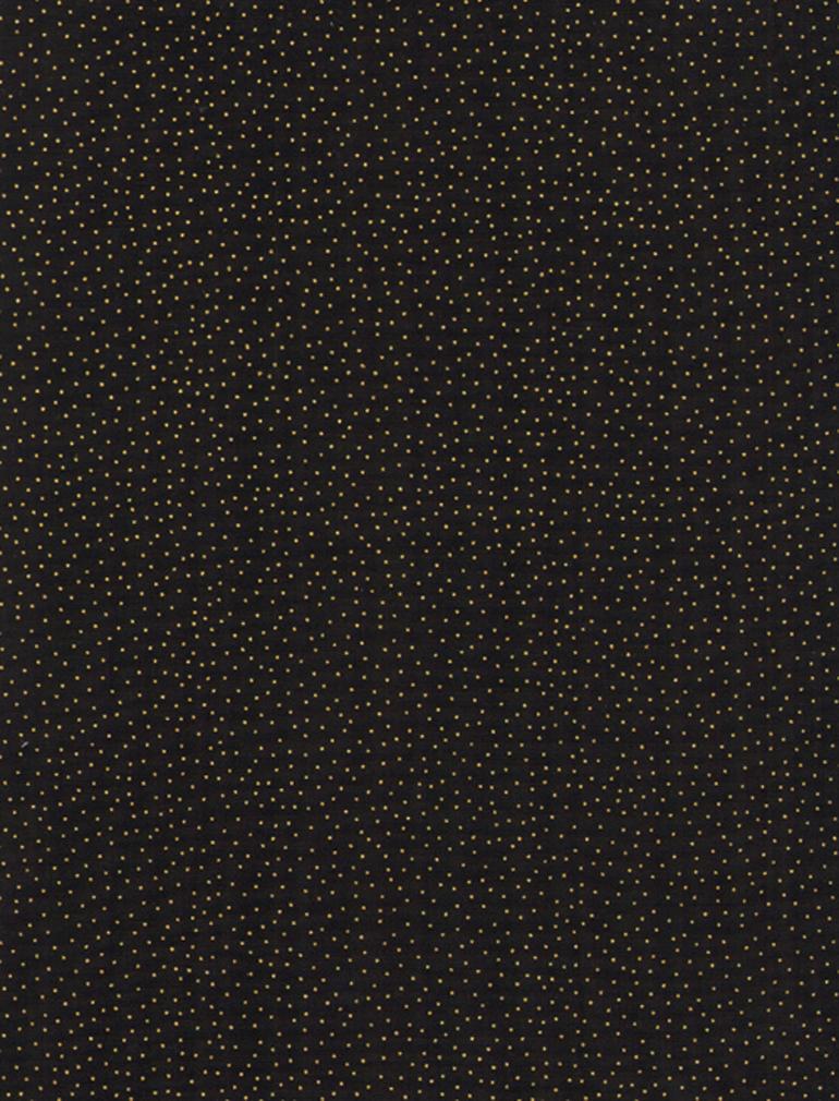 Metallic Pin Dots Black