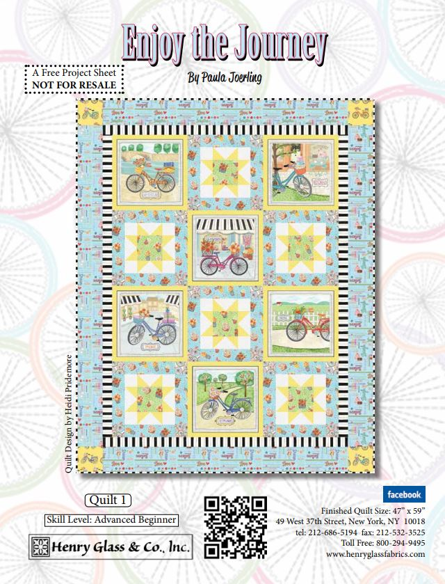 Enjoy the Journey Quilt Pattern 1- FREE download