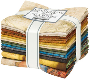 Leonardo Da Vinci  Fat Quarter Bundle  16 PC  4.834 yds
