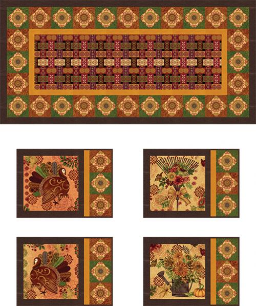 Fall Festival Table Setting -  FREE PATTERN