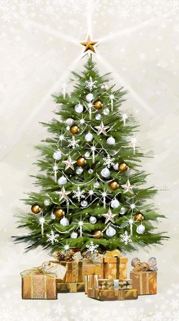 White Christmas Glitter Panel
