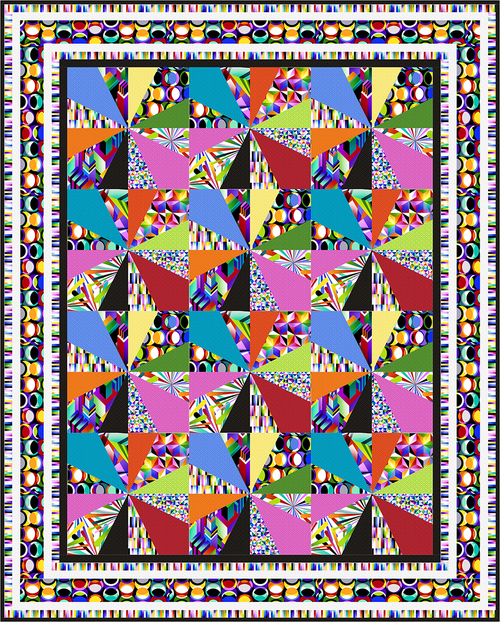 Geo Topia Quilt- FREE PATTERN