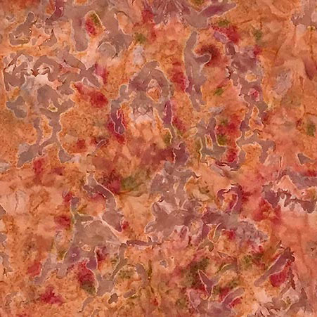 Oasis Cotton Hand Dyed Batik     Peach Crush