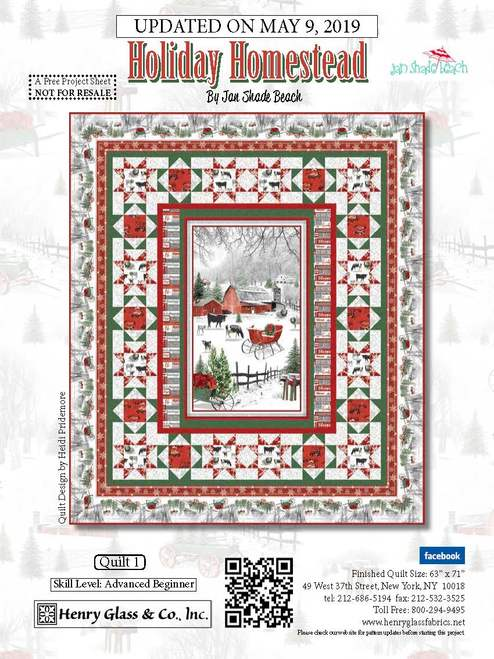 Free Pattern Holiday Homestead