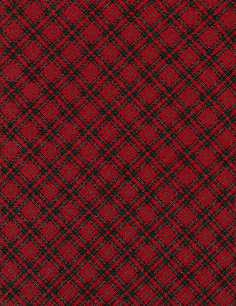 Home for the Holidays Red Bias Plaid