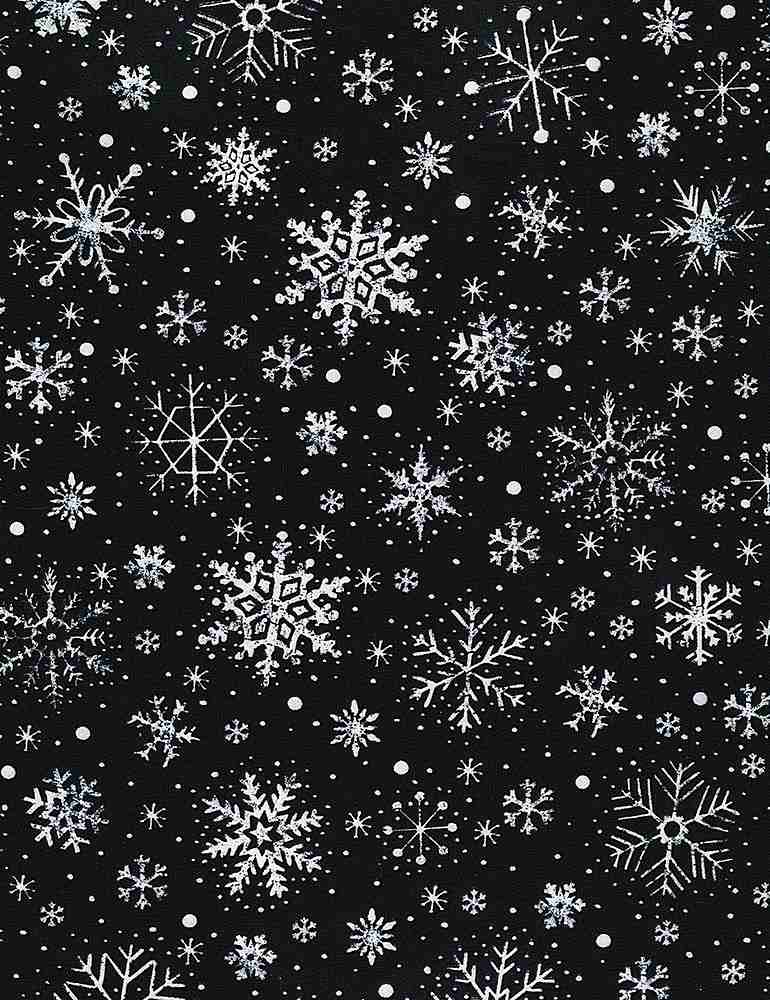 Home for the Holidays Black Chalk Snowflakes